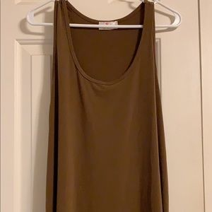 Tops - brown tank top